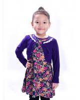 W711049OR LOVELY BLOUSE PURPLE LONG SLEEVE