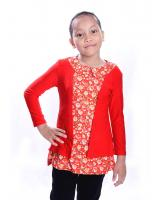 W711054RE LOVELY BLOUSE RED LONG SLEEVE