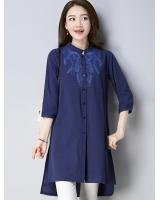 ZL704 Trendy Top Navy