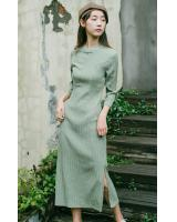 FF-104 Fashion Cheongsam Green