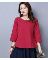 ZL706 Casual Top Red