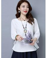 ZL706 Casual Top White