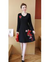 FF-105 Pretty Embroidery Dress (Plus Size) Red
