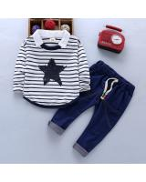 ST-635 Kids Top & Pant Set White