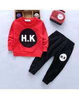 ST-637 Kids Top & Pant Set Red