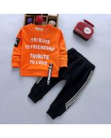 ST-638 Kids Top & Pant Set Orange