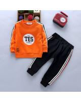 ST-639 Kids Top & Pant Set Orange