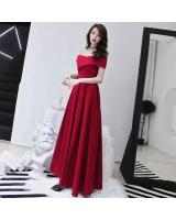 WD7697 Women's Elegant Evening Dress Red
