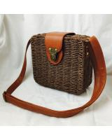 KW80397 Vintage Style Bag Dark Brown