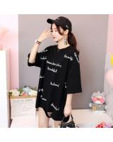 ZL768 Trendy Oversize Top Black