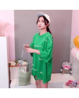 ZL768 Trendy Oversize Top Green