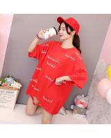 ZL768 Trendy Oversize Top Red