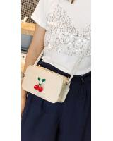 KW80399 Cherry Sling Bag Cream
