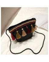 KW80400 Women's Tassel Bag Black