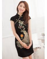 JW5078 Stylish Cheongsam Black