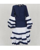 SW5162 Fashion Girl's Jubah Navy