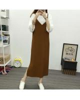 JW5079 Fashion Strap Dress Brown