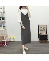 JW5079 Fashion Strap Dress Grey