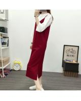 JW5079 Fashion Strap Dress Maroon