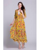 ZL772 Charming Dress Yellow