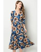 ZL773 Floral Dress Blue
