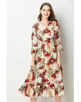 ZL773 Floral Dress Red