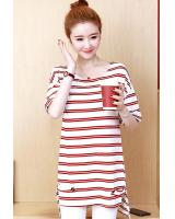 ZL805 Casual Top Red