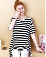ZL805 Casual Top Stripe