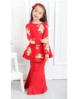 QA-556 KIDS PEPLUM KURUNG RED