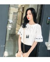 FF-195 Lovely Off Shoulder Top White