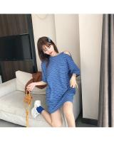 FF-202 Casual Stripe Top Blue