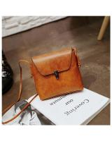 KW80417 VINTAGE STYLE SQUARE BAG LIGHT BROWN