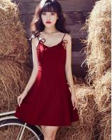 ZL845 Sweet Dress Maroon