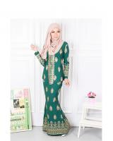 QA-568 MODERN SONGKET KEBAYA SET GREEN