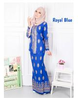 QA-568 MODERN SONGKET KEBAYA SET ROYAL BLUE