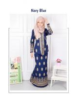 QA-568 MODERN SONGKET KEBAYA SET NAVY BLUE