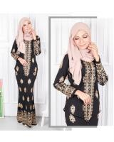 QA-568 MODERN SONGKET KEBAYA SET BLACK GOLD