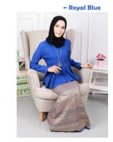 QA-570 MODERN SONGKET SET ROYAL BLUE