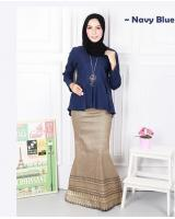 QA-570 MODERN SONGKET SET NAVY BLUE
