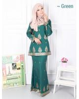 QA-573 MODERN SONGKET KURUNG SET GREEN