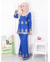 QA-573 MODERN SONGKET KURUNG SET ROYAL BLUE