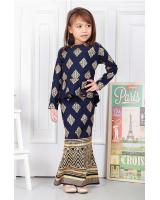 QA-575 KIDS MODERN PEPLUM SET NAVY BLUE