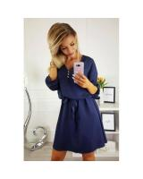ZL848 Casual European Dress Dark Blue