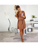 ZL848 Casual European Dress Khaki
