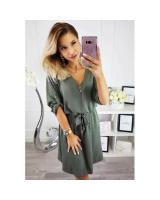 ZL848 Casual European Dress Green