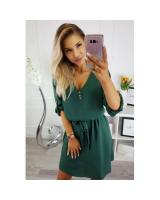 ZL848 Casual European Dress Dark Green