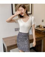 ZL849 Casual Knitted Top Almond