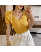 ZL849 Casual Knitted Top Yellow