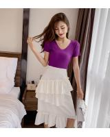 ZL849 Casual Knitted Top Purple