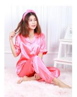 QA-595 SATIN NIGHT WEAR SET PINK